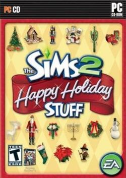 Box artwork for The Sims 2: Happy Holiday Stuff.