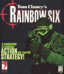 Box artwork for Tom Clancy's Rainbow Six.