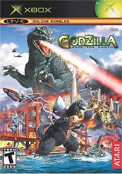 Box artwork for Godzilla: Save the Earth.