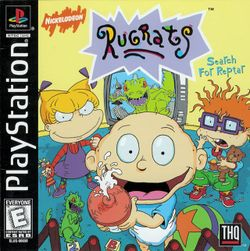 Box artwork for Rugrats: Search for Reptar.