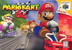 Box artwork for Mario Kart 64.