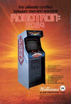 Box artwork for Robotron: 2084.