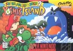 Box artwork for Yoshi's Island: Super Mario World 2.