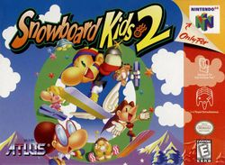 Box artwork for Snowboard Kids 2.