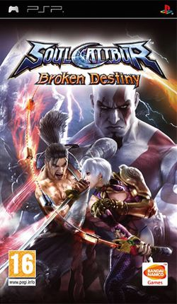 Box artwork for Soulcalibur: Broken Destiny.