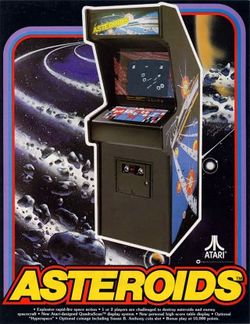 Box artwork for Asteroids.