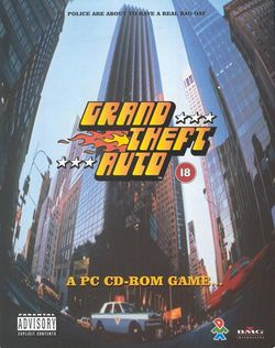 Box artwork for Grand Theft Auto.