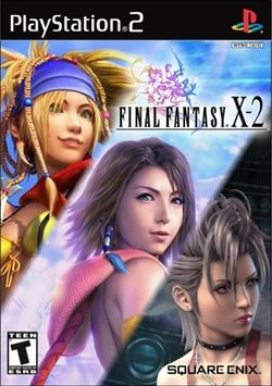 Box artwork for Final Fantasy X-2.