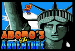 Box artwork for Abobo's Big Adventure.