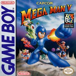 Box artwork for Mega Man V.