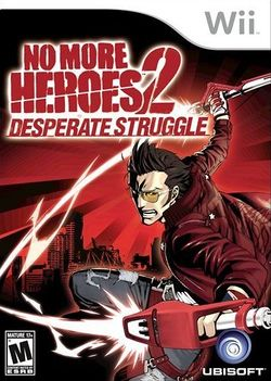 Box artwork for No More Heroes 2: Desperate Struggle.