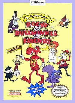 Box artwork for The Adventures of Rocky and Bullwinkle and Friends.