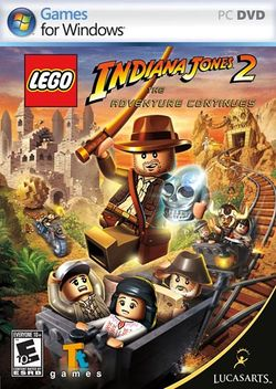 Box artwork for LEGO Indiana Jones 2: The Adventure Continues.