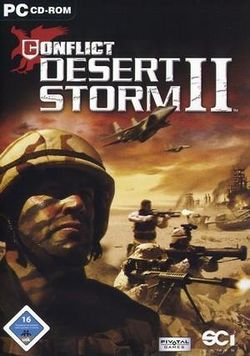 Box artwork for Conflict: Desert Storm II.