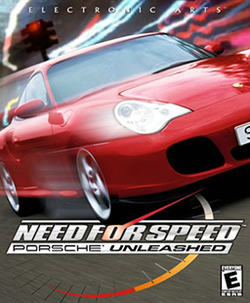 Box artwork for Need for Speed: Porsche Unleashed.
