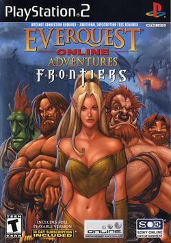 Box artwork for EverQuest Online Adventures: Frontiers.