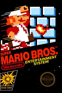 Box artwork for Super Mario Bros..