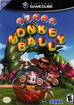 Box artwork for Super Monkey Ball.