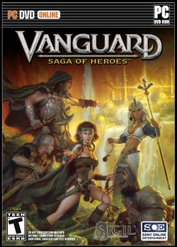 Box artwork for Vanguard: Saga of Heroes.