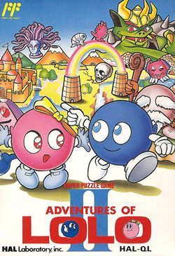 Box artwork for Adventures of Lolo II.