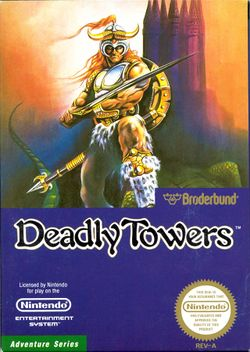 Box artwork for Deadly Towers / Mashou.