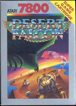 Box artwork for Desert Falcon.