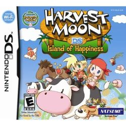 Box artwork for Harvest Moon DS: Island of Happiness.