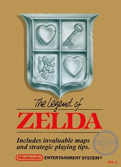 Box artwork for The Legend of Zelda.
