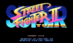 Box artwork for Super Street Fighter II Turbo.