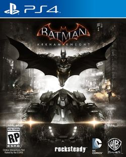 Box artwork for Batman: Arkham Knight.