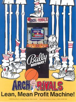 Box artwork for Arch Rivals.
