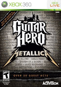 Box artwork for Guitar Hero: Metallica.