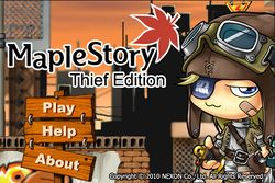 Box artwork for MapleStory Thief Edition.