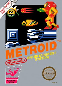 Box artwork for Metroid.