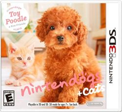 Box artwork for Nintendogs + Cats.
