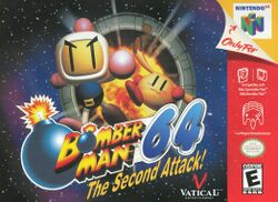 Box artwork for Bomberman 64: The Second Attack!.