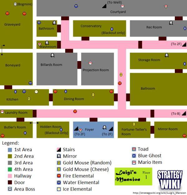 Luigi's Mansion/Maps — StrategyWiki, the video game ...