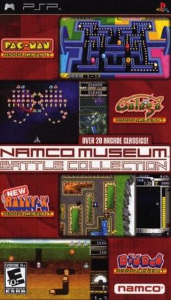 Box artwork for Namco Museum Battle Collection.