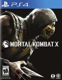 Box artwork for Mortal Kombat X.