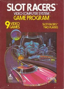 Box artwork for Slot Racers.