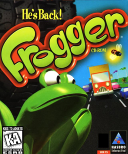 Box artwork for Frogger He's Back!.