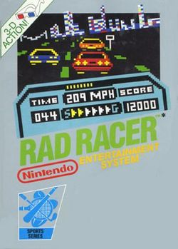 Box artwork for Rad Racer.