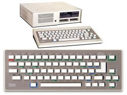 The console image for IMB PCjr.