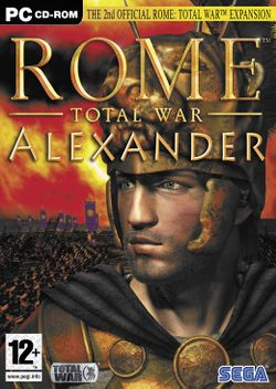 Box artwork for Rome: Total War - Alexander.
