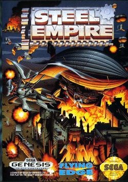 Box artwork for Steel Empire.