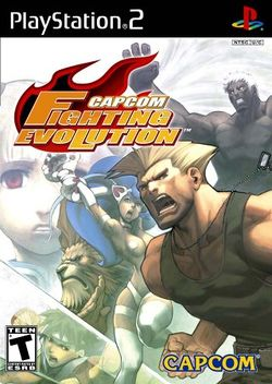 Box artwork for Capcom Fighting Evolution/Jam.