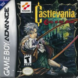 Box artwork for Castlevania: Circle of the Moon.