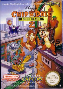Box artwork for Chip 'n Dale Rescue Rangers 2.