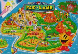 Box artwork for Pac-Land.