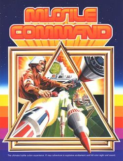 Box artwork for Missile Command.